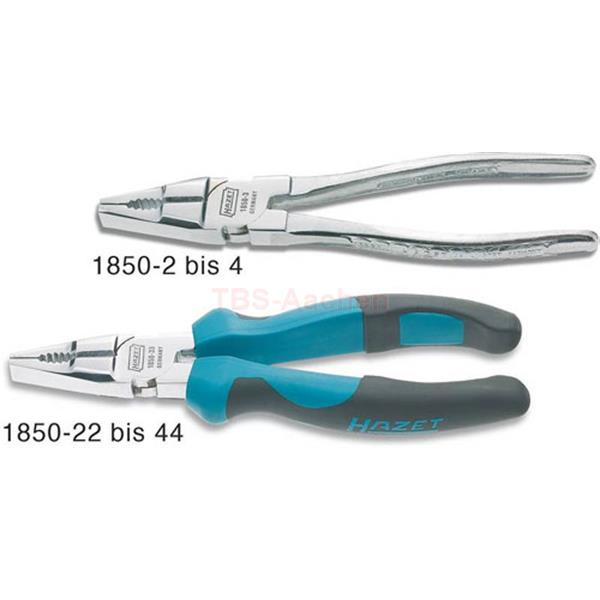 Hazet 1850-33 Combination Pliers, bright chrome-plated