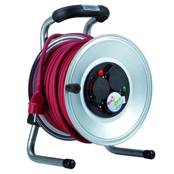 HEDI Steel-Cable reel with 40 m rubber cable