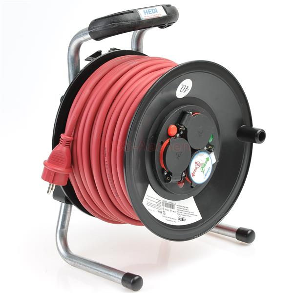 HEDI Cable reel with 40 m rubber cable