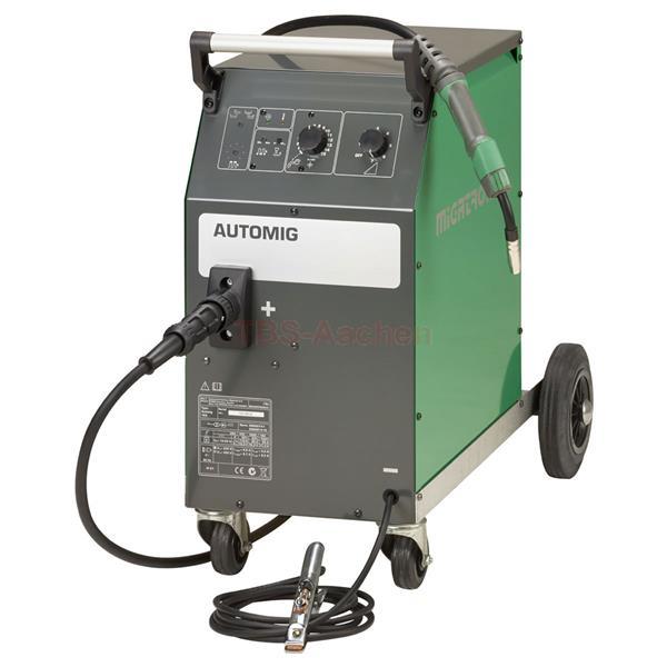 Migatronic Automig 273 Aktion mit 4-Rollen-Antrieb