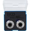 BGS 6661 Brake Piston Reset Adaptor Set, universal, with 2 & 3 Pins, 2 pcs