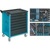 Hazet 177-7/120 Tool trolley with 120-pcs Tool set