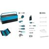 Hazet 190/98 Metal tool box with basic assortment