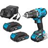 Hazet 9230-2/4 Cordless drilling machine set, 18 V, 2 Ah, 4-piece