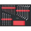 KS-Tools 711.3021 SCS wrench set, 21 pcs in 1/1 system insert