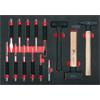 KS-Tools 711.0014 SCS chisel and hammer set, 14 pc