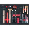 KS-Tools 711.0017 SCS hammer and pin punch set, 17