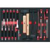 KS-Tools 711.0018 SCS File, chisel and hammer set,