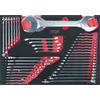 KS-Tools 711.0042 SCS wrench set, 42 pcs, 1/1 syst