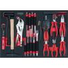 KS-Tools 711.1022 SCS pliers and chisel set, 22 pc