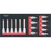 KS-Tools 713.0015 SCS 1/2`` Bit socket set, 15 pcs