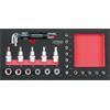KS-Tools 713.0031 SCS Bit socket set, 1/4