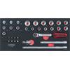 KS-Tools 713.0036 SCS Socket set, 3/8