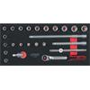 KS-Tools 713.2024 SCS Socket set, 3/8