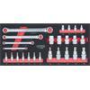 KS-Tools 713.2025 SCS Torx E-Profile tool set, 25