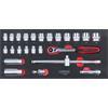 KS-Tools 713.3025 SCS Socket set, 3/8