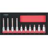 KS-Tools 713.4010 SCS Bit socket set XZN, 10 pcs,