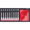 KS-Tools 713.4019 SCS Bit socket set Torx, 19 pcs,