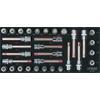 KS-Tools 783.0032 SCS CHROMEplus Bit socket set 1/