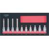 KS-Tools 783.4010 SCS CHROMEplus Bit socket set XZ