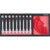 KS-Tools 783.4019 SCS CHROMEplus Bit socket set To