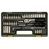 Proxxon 23280 Precision engineer's set with 1/4'' baton ratchet (4 - 13 mm), 50 pieces