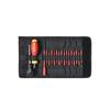 Wiha 36791 Torque screwdriver set TorqueVario®-S electric assorted, variably adjustable torque limit, 18-pcs. in bag 0,8-5,0 Nm