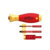 Wiha 41477 easyTorque torque set electric adapter with slimVario® holder and SL/PZ slimBits, 4-pcs. in blister pack