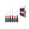 Wiha 21249 Screwdriver set SoftFinish® Slotted, Pozidriv with hexagon head, 6-pcs.