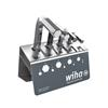 Wiha 01182 L-key set Hex in work bench stand, short, 9-pcs., brilliant nickel-plated