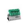 Wiha 25624 L-key with key handle set TORX® in work bench stand, 7 pcs., black oxidised