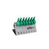 Wiha 25625 L-key with flag handle set TORX® in work bench stand, 7 pcs., black oxidised