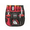 Wiha 40282 Tool set electrician assorted slotted, Pozidriv, 10-pcs. in belt pouch