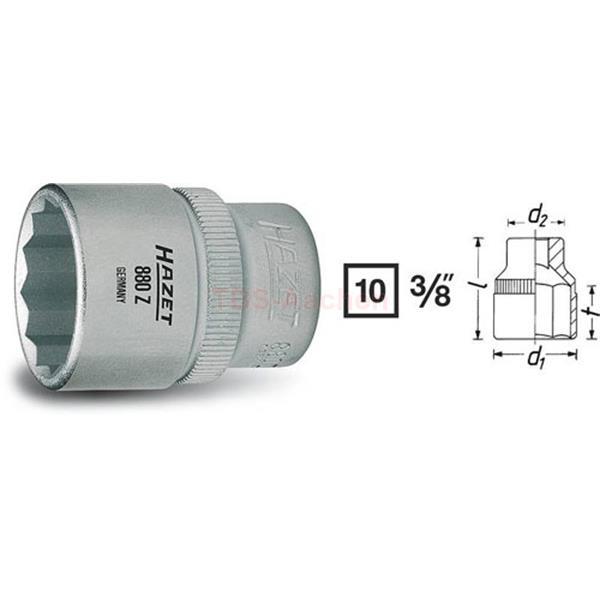 """HAZET Ø 11 mm Steckschlüsseleinsatz 3//8/"""" Zoll sechskant"""