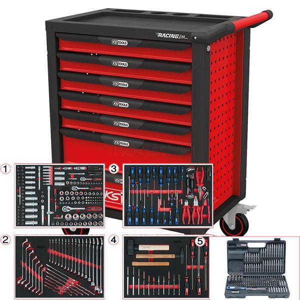 ks tools racingline werkstattwagen 515tlg. Black Bedroom Furniture Sets. Home Design Ideas