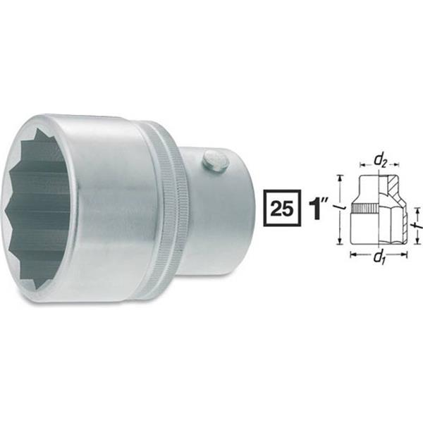 NEU 1-Zoll Socket Nuss-Einsatz 12pt SW 50 bis SW 80 Cr-V