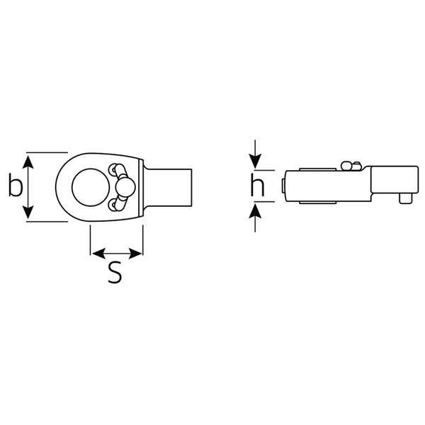 Stahlwille Werkzeughalter//Lösewerkzeug Werkzeugaufnahme 9x12 mm L.382,5 mm