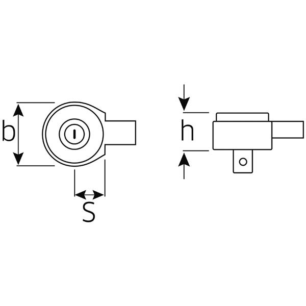 """735//20 Stahlwille EINSTECKKNARRE 1//2/""""  14 x 18 mm Aufnahme"""