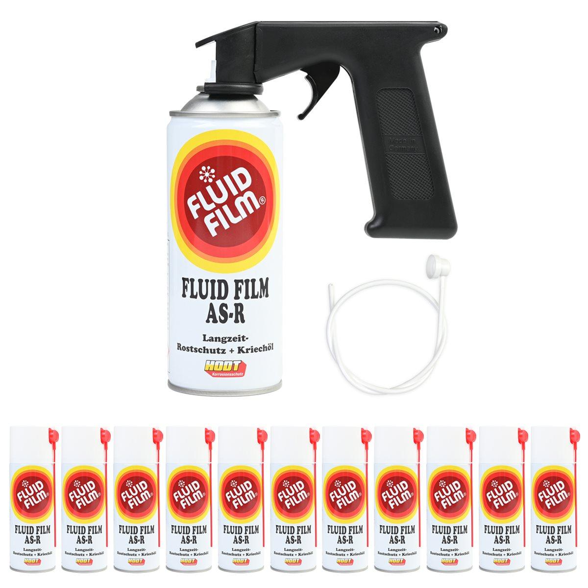 fluid film as r korrosionsschutz kriech l 400 ml 12er set sonde handgriff ebay. Black Bedroom Furniture Sets. Home Design Ideas