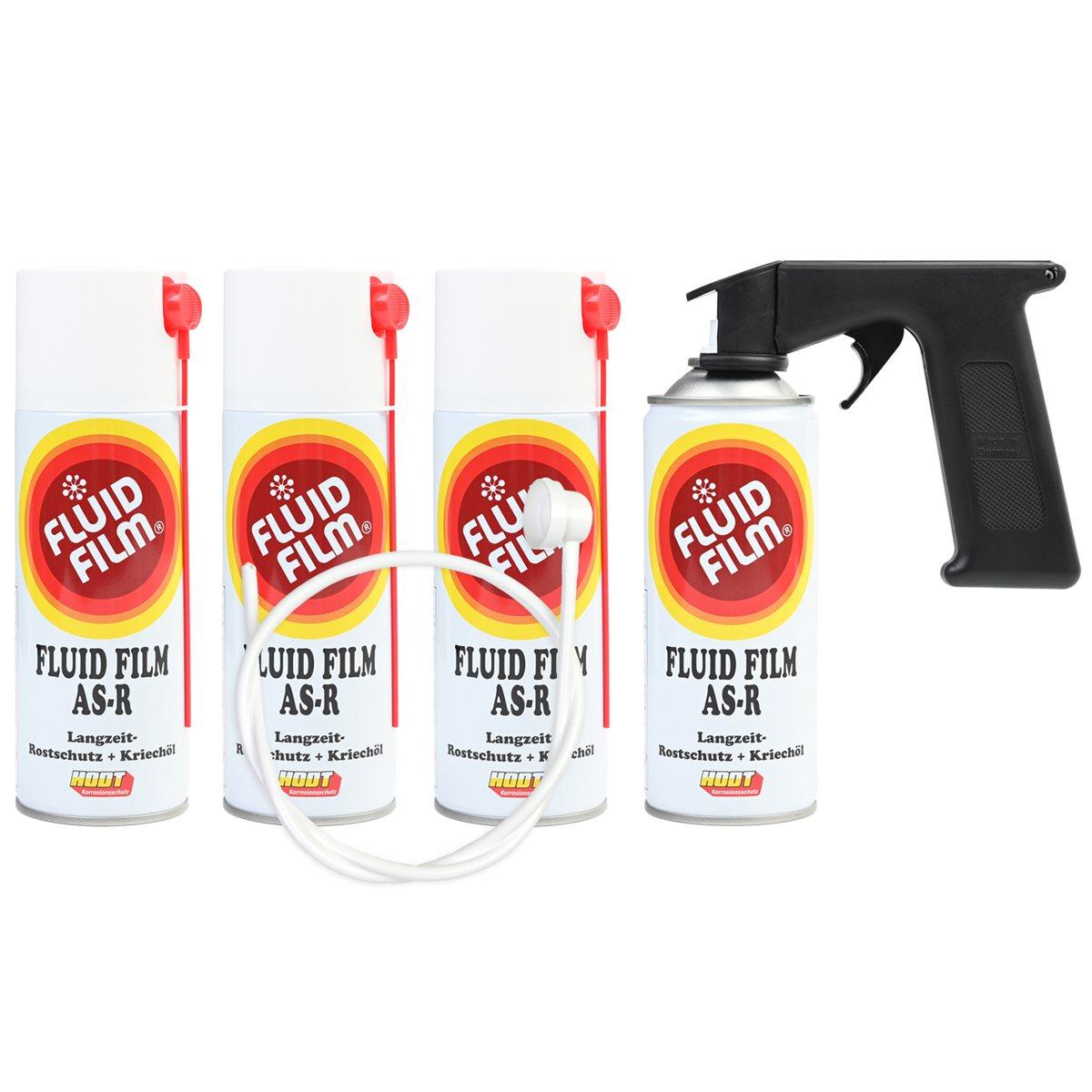 fluid film as r korrosionsschutz kriech l 400 ml 4er set sonde handgriff ebay. Black Bedroom Furniture Sets. Home Design Ideas
