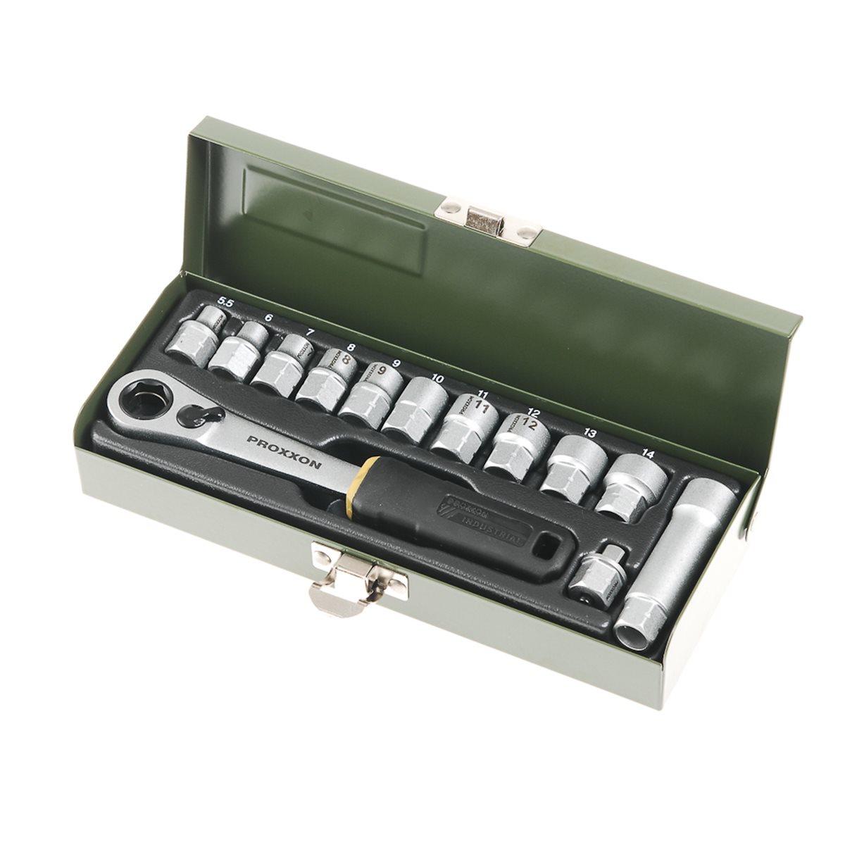 """14-tlg. 13 bis 27 mm Proxxon Werkstatt-Spezialsatz 1//2/"""""""
