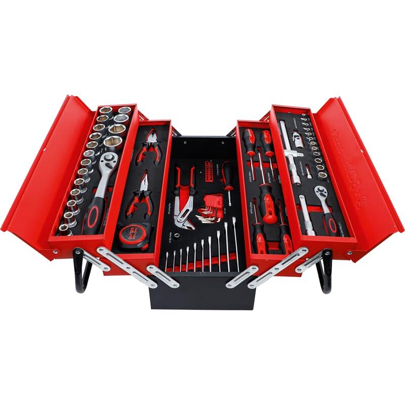 BGS 6056 Metal workshop Tool Case incl. Tool Assortment | 86 pcs.
