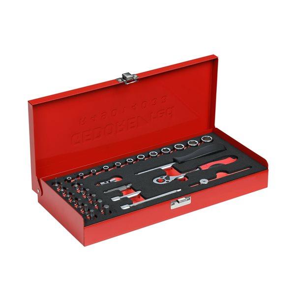 gedore red r49014033 1 4 steckschl ssel satz 32t. Black Bedroom Furniture Sets. Home Design Ideas