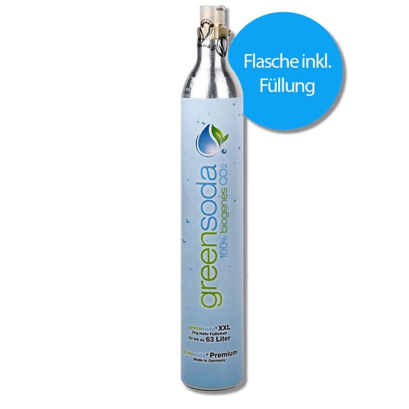 Gasflasche greensoda CO2 425 g E290 gefüllt