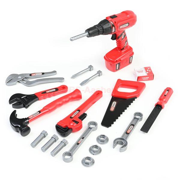 KS-Tools Kinderspielzeug-Werkzeugsatz, 17-teilig