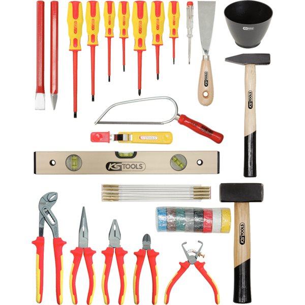ks tools basic elektriker werkzeugkoffer. Black Bedroom Furniture Sets. Home Design Ideas