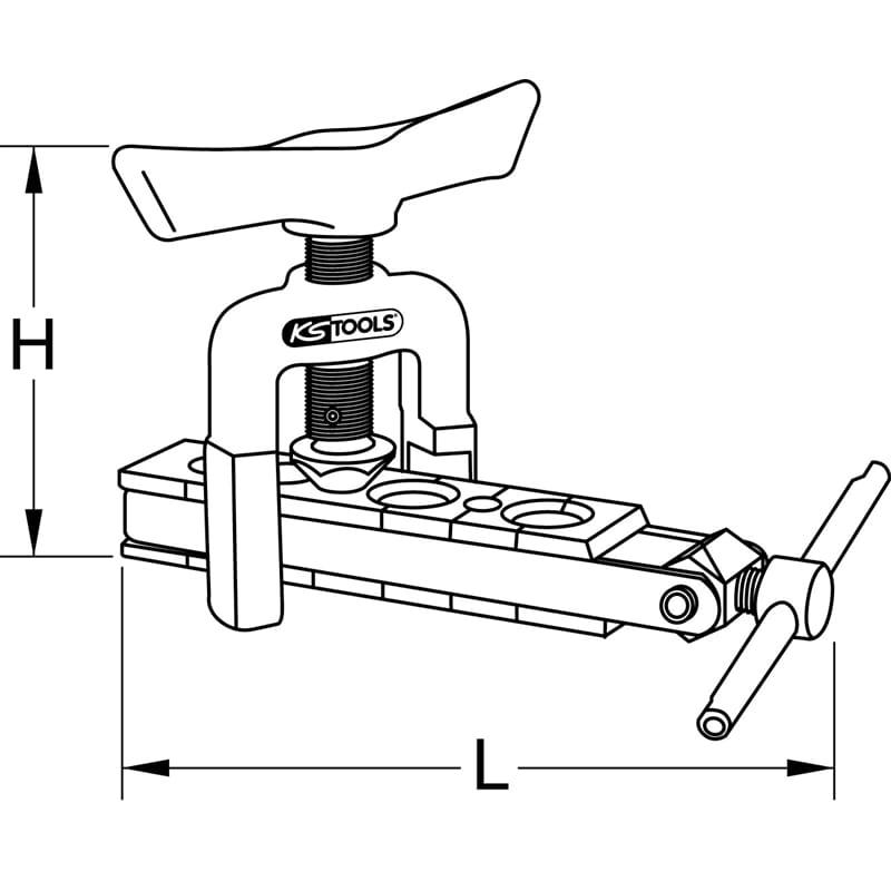 KS Tools 122.0501 B/ördelger/ät Zoll mit Schnellspannvorrichtung