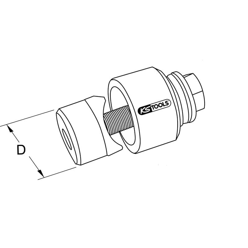 20,4mm KS Tools 129.0020 Schraublochstanze