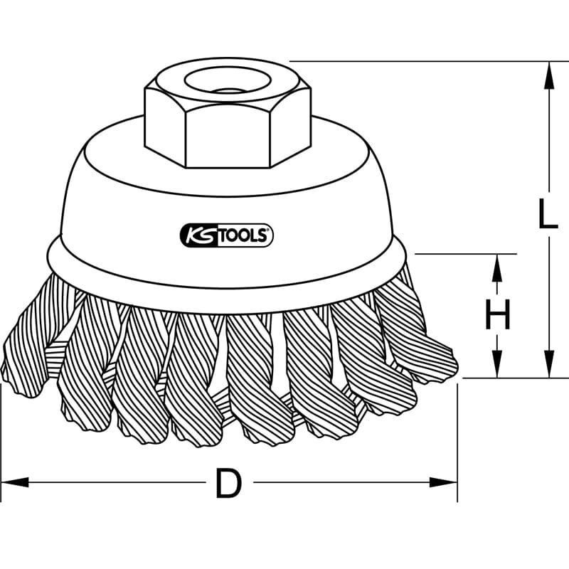 KS Tools 340.0022 stahldrahttopfbürste 0,5 mm Ø 65 mm