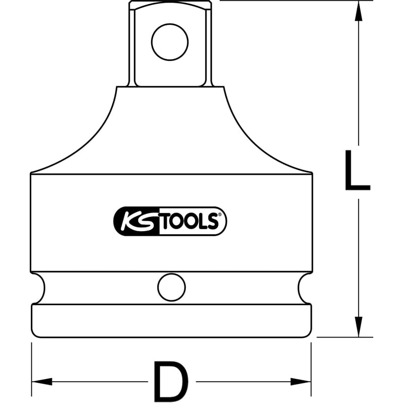 """kurz KS Tools 1/"""" Kraft-Bit-Stecknuss Innensechskant 32 mm"""